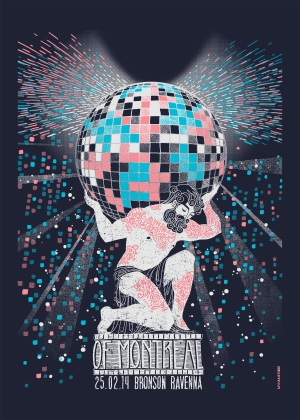 Of Montreal Gig Poster