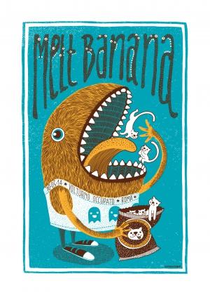 Melt Banana Gig Poster