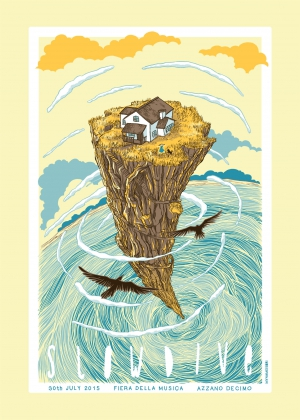 Slowdive Gig Poster