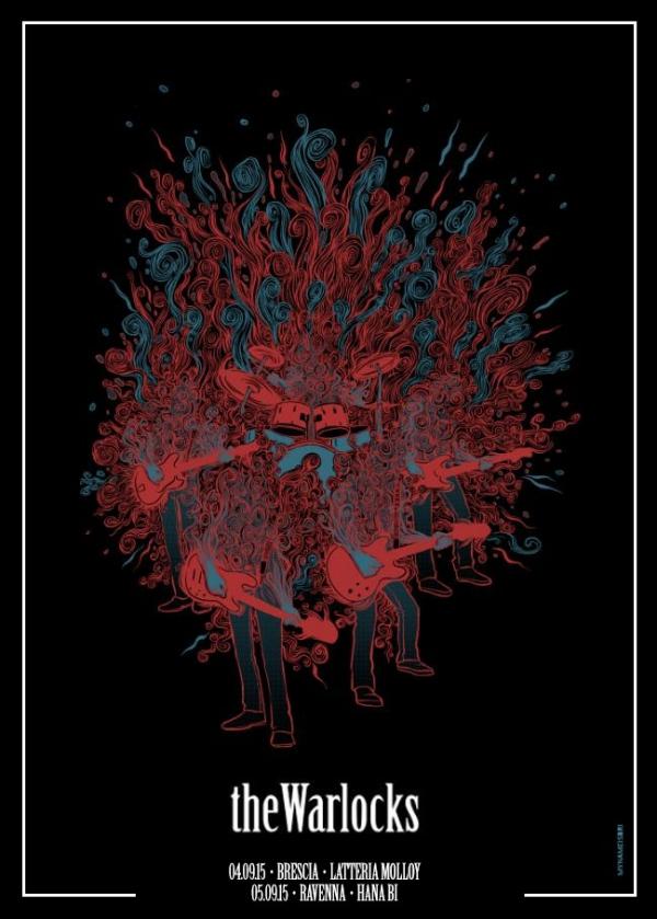 The Warlocks Gig Poster