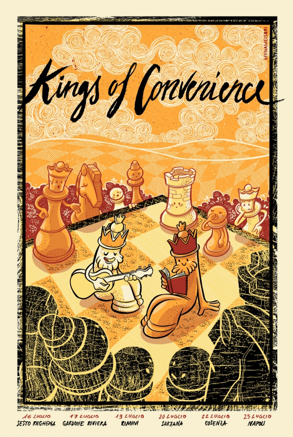 Kings of Convenience Gig Poster