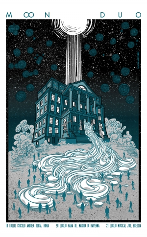 Moon Duo Gig Poster