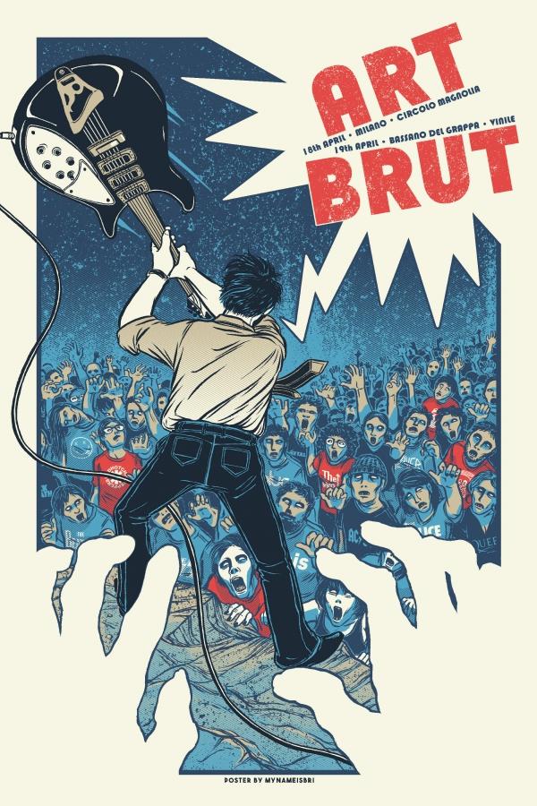 Art Brut Gig Poster