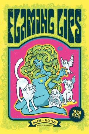 Flaming Lips Gig Poster
