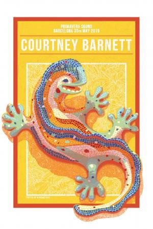 Courtney Barnett Gig Poster