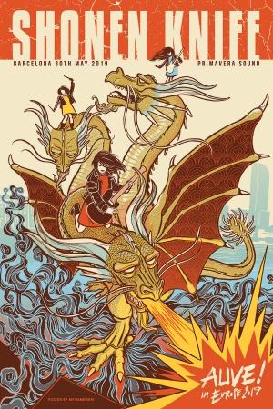 Shonen Knife Gig Poster