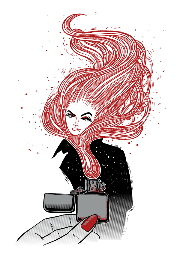 Zippo Girl Art Print