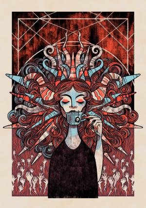 Demon Tea Art Print