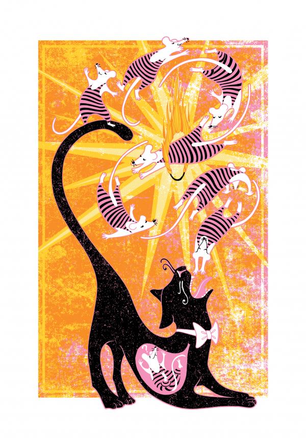 The Amazing Last Trick Of Magic Mouse Art Print